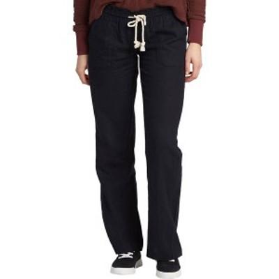 ロキシー レディース カジュアルパンツ ボトムス Roxy Women's Ocean Side Pants True Black