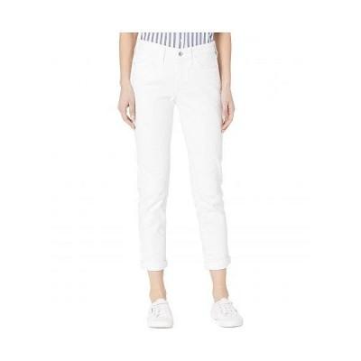 Mavi Jeans マヴィ レディース 女性用 ファッション ジーンズ デニム Ada Mid-Rise Boyfriend in White Ripped Stretch - White Ripped Stripe
