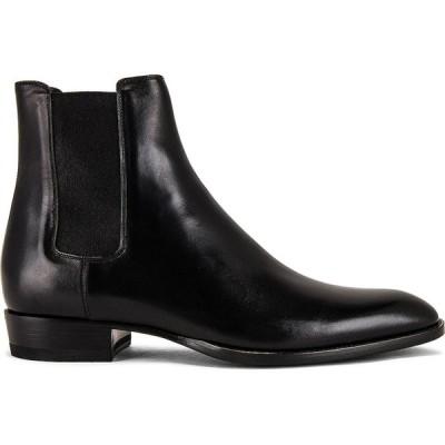 イヴ サンローラン Saint Laurent メンズ ブーツ チェルシーブーツ シューズ・靴 wyatt 30 chelsea boot Black