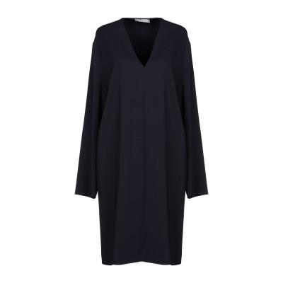 VINCE. ミニワンピース&ドレス ダークブルー S レーヨン 97% / ポリウレタン 3% ミニワンピース&ドレス