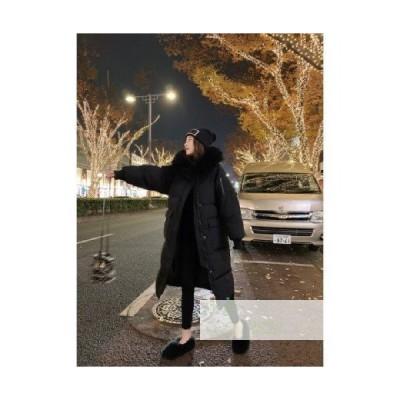 ダウンジャケット ミドル丈 ダウンジャケット 綿の服 レディース 20代 韓国風 ゆるい 韓風 30代 ファッション 2020 カジュアル 新しい 40代 大きな毛皮の襟 冬