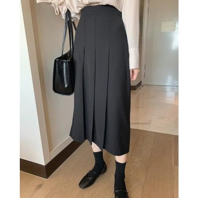 SOMEPLACE レディース スカート Dina pleated long skirt