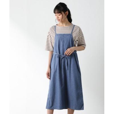 【ハニーズ】 デニムジャンパースカート レディース ブルー M Honeys