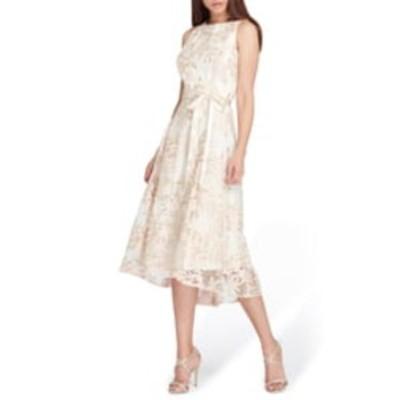 タハリ レディース ワンピース トップス Floral Embroidered Dress CHAMPAGNE/