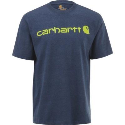 カーハート シャツ トップス メンズ Carhartt Men's Short Sleeve Logo T-shirt Dark Blue 02