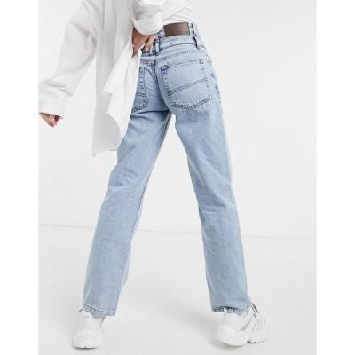 リクレイム ヴィンテージ レディース デニムパンツ ボトムス Reclaimed Vintage Inspired the 82' Dad jeans with double waistband in blue Blues