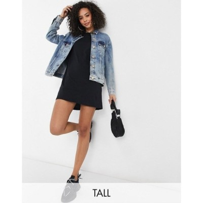 ブレーブソール レディース ワンピース トップス Brave Soul Tall lennon T-shirt dress in black Black