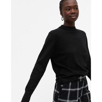 モンキ レディース ニット・セーター アウター Monki Ambidextra knit sweater in black