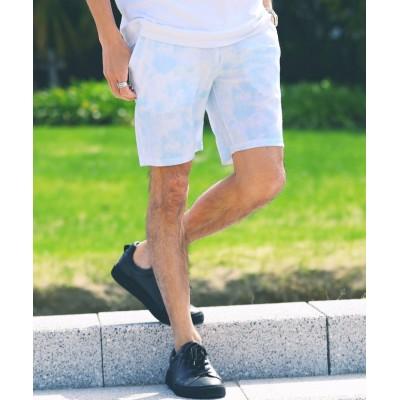 【ジギーズショップ】 パイルマルチパターン柄ショーツ / ハーフパンツ メンズ ショートパンツ パイル 膝上 短パン 薄手 ペアルック カップル ルームウェア メンズ その他系1 M JIGGYS SHOP