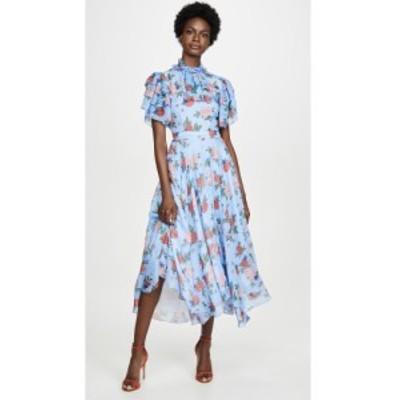 マグロウ macgraw レディース ワンピース ワンピース・ドレス sentimental dress Blue Floral