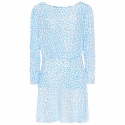 リキソ Rixo レディース ワンピース ワンピース・ドレス Kyla leopard-print minidress Ombre Blue Leopard