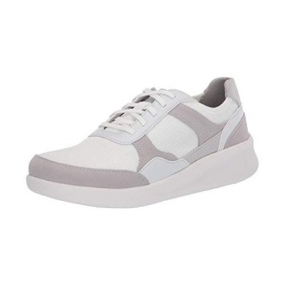 Clarks Women's Sillian 2.0 Lace Sneaker, Light Grey Textile, 8 M US【並行輸入品】