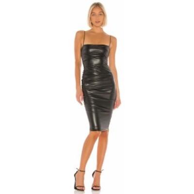 ノーキー Nookie レディース ワンピース ワンピース・ドレス Posse Faux Leather Midi Dress Black