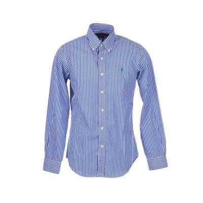 POLO RALPH LAUREN ストライプ柄シャツ ファッション  メンズファッション  トップス  シャツ、カジュアルシャツ  長袖 ブルー