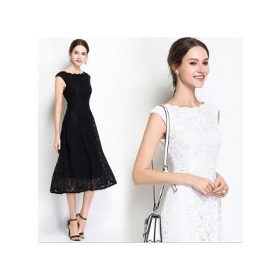 パーティードレス ひざ丈 スカート 透け感レース 大人 レディース ワンピース 結婚式 二次会 お呼ばれドレス kh-0261