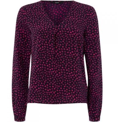 ヴェロモーダ Vero Moda レディース 長袖Tシャツ トップス long sleeve kiss print shirt Multi-Coloured