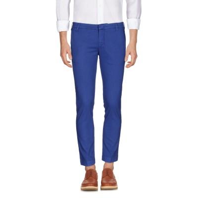 アントレ アミ ENTRE AMIS パンツ ブルー 30 コットン 58% / レーヨン 28% / 麻 11% / ポリウレタン 3% パンツ