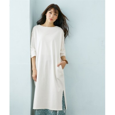 綿100%バスクゆるっとワンピース (ワンピース)Dress