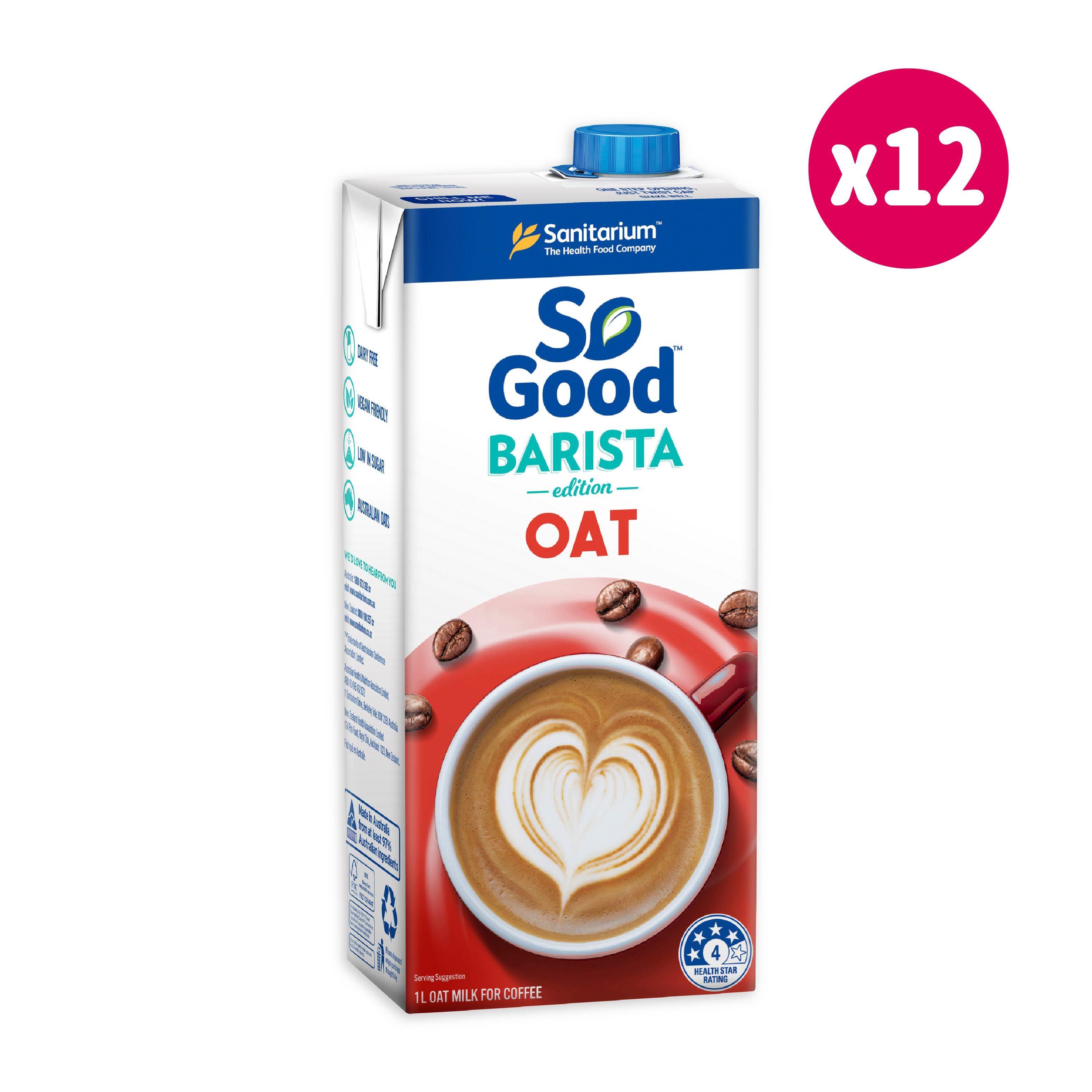澳洲SO GOOD BARISTA 燕麥奶*12/箱(無糖1000ml)