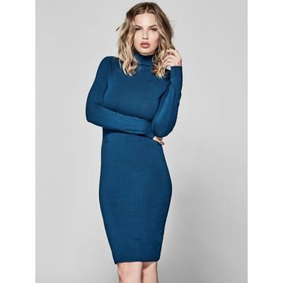 ゲス GUESS MARCIANO Nancy Sweater Dress (POSEIDON)