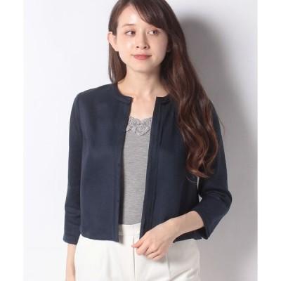 Leilian / ノーカラー7分袖ジャケット
