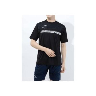 ペナルティ PENALTY メンズ サッカー/フットサル 半袖シャツ スラッシュロゴTシャツ PT1134 (ブラック)