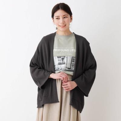 シューラルー SHOO-LA-RUE カノコ編みニットカーディガン (チャコールグレー)