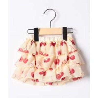 Shirley Temple(シャーリーテンプル)チェリーptパンツ付きスカート(80~90cm)
