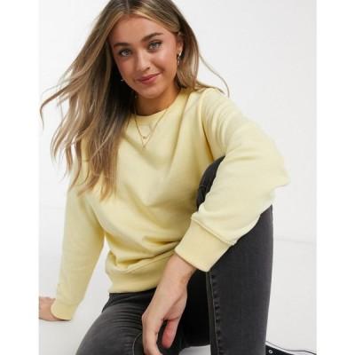 ニュールック New Look レディース スウェット・トレーナー トップス Sweatshirt In Light Yellow