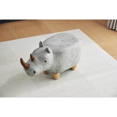 アニマルモチーフのスツール Rhino Jr.(リノジュニア) ベージュ