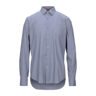 BOSS HUGO BOSS シャツ ダークブルー 44 コットン 73% / ナイロン 23% / ポリウレタン 4% シャツ