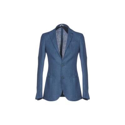 LIU •JO MAN テーラードジャケット パステルブルー 50 100% 麻 テーラードジャケット