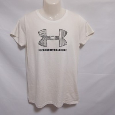 【古着】 レディースL UNDER ARMOUR/アンダーアーマー ポリエステル Tシャツ 半袖 スポーツ トレーニング 吸汗速乾 通気性 ホワイト 1328