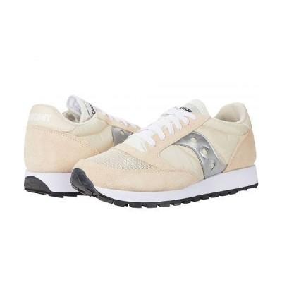 Saucony Originals サッカニー メンズ 男性用 シューズ 靴 スニーカー 運動靴 Jazz Original Vintage - Tan/White/Silver