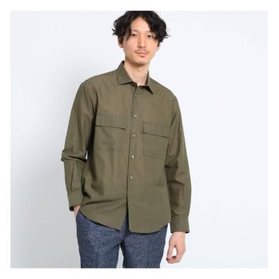 【タケオキクチ/TAKEO KIKUCHI】 【Sサイズ~】Herdmans Linen ダブルポケットシャツ
