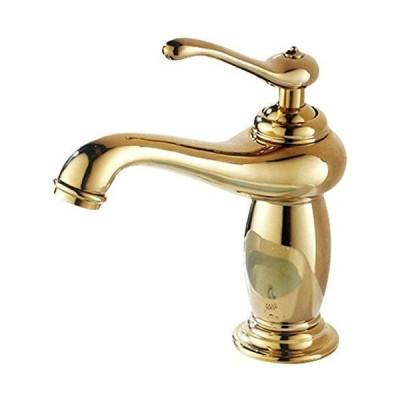 (新古品)ShiSyan 立体水栓 万能水栓 蛇口 シングルハンドル水シンクタップ金メッキ