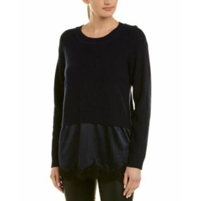ファッション トップス Sandro Lace Wool-Blend Sweater