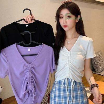 2020春夏新作 レディース 全3色 韓国 ファッションスレンダーラインTシャツ