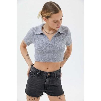 アーバンアウトフィッターズ Urban Outfitters レディース ニット・セーター クロップド トップス UO Andrea Collared Cropped Sweater Grey