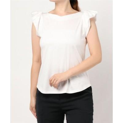 tシャツ Tシャツ 《Maglie par ef-de》フリルスリーブカットソー《接触冷感》