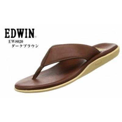 (エドウィン)EW8020 EDWIN カジュアルリゾートトングサンダル 人気モデル つっかけ 裏地は肌触りの良いナイロン素材を使用しています メ
