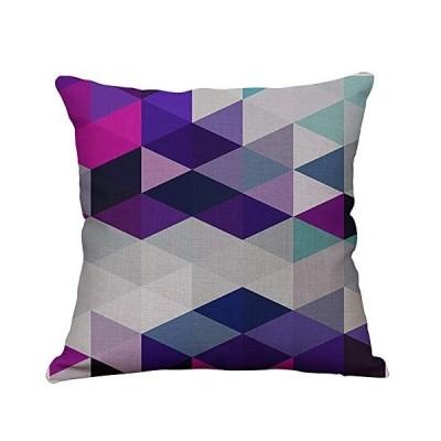 クッションカバー コットン 正方形 装飾 抱き枕カバー 幾何図形 北欧 綿麻製 枕カバー ソファー お部屋 雑貨