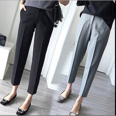 ワイドパンツ スーツ スラックス レディース ズボン 細見え ビッグサイズ シンプル ロングワインパンツ