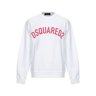 ディースクエアード DSQUARED2 スウェットシャツ ホワイト S コットン 100% / ポリウレタン スウェットシャツ