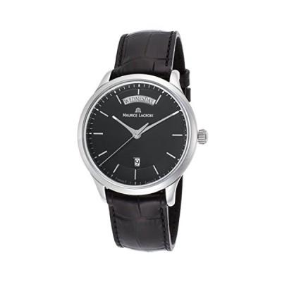 Maurice Lacroix Lc1227-Ss001-331 Men's Les Classiques Black Genuine Leather Black Dial Watch 並行輸入品