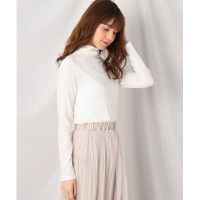 Couture brooch / シャーリングタートルプルオーバー WOMEN トップス > Tシャツ/カットソー