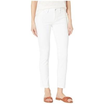 マーヴィジーンズ レディース 服 デニム Adriana Mid-Rise Super Skinny Ankle Jeans in Double White Tribeca