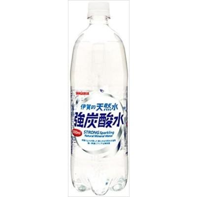 送料無料 サンガリア 伊賀の天然水 強炭酸水 1000ml × 12本