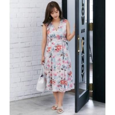 トッカ(TOCCA)/【TOCCA LAVENDER】Tiedye Print Linen ドレス
