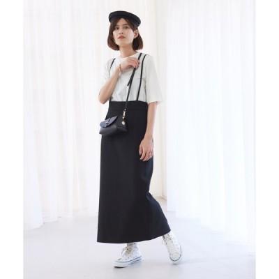 スカート 【WEB&一部店舗限定】サスペンダータイトスカート